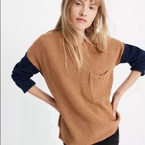 Madewell Colourblock Pocket Pullover Sweater